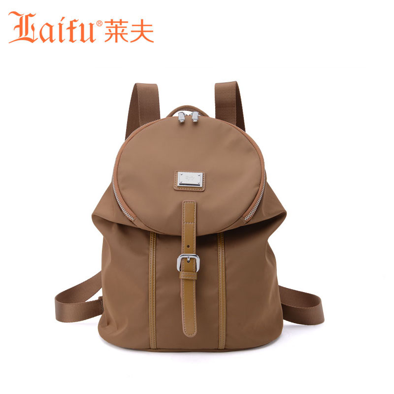 Famous Brand Laifu Design Women Lightweight Nylon Bag Teenage Girls School Backpack Preppy Style Shopping Travel