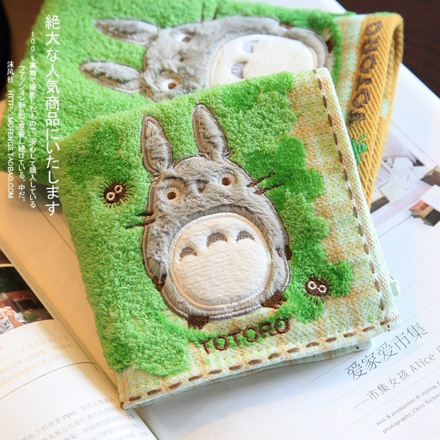 2017 Hot sale 100% Cotton Luxury My Neighbour Totoro Face Hand Towel Sheet Gift only left 99piece
