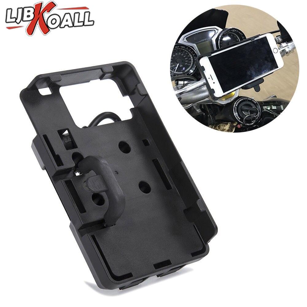 Moto USB chargeur téléphone portable GPS Navigation support de montage support pour BMW R1200GS LC ADV F800GS F700GS R1200R S1000R S1000XR