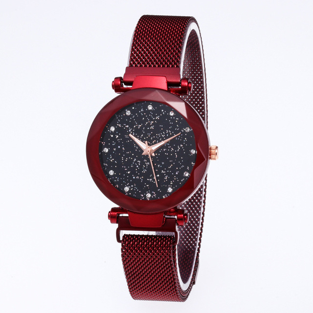 Relojes Mujer Fashion Steel Watches For Women Starry Sky Women Clock Special Des