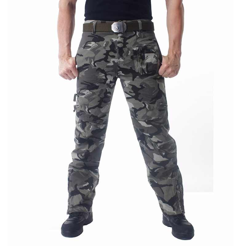 0ab9d1c263f30 ... Mens Cargo Pants Male Tactical Pants Military Army Style Mens Casual  Jogger Camo Multi Pocket Baggy ...