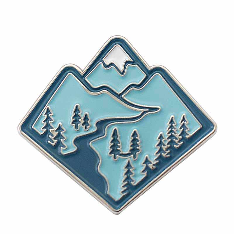 Mountain Emaille Pin Rugzak Hangmat Verkennen Natuur Mountain Avontuur Badge