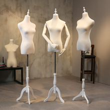 Clothes mannequins female half body fiberglass women fabric mannequin