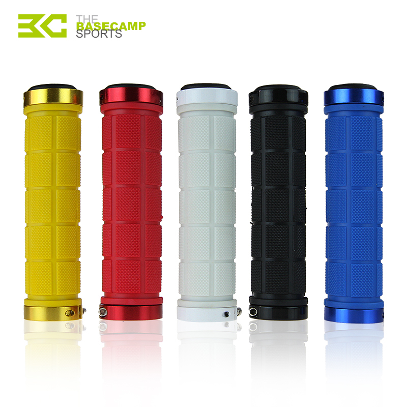 Double Lock On MTB Mountain Cycling Bike Bicycles Fixed Gear Handlebar End Grips