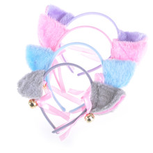 Kawaii Cat Ears Bell Bow Bowknot Headdress Cute Head Hoop Hairpinn Toy Gift Cute Cosplay Anime Costume Party Gift Headwear(China)