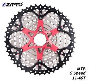 ZTTO vtt VTT 9 vitesses 11-46T Cassette 9 vitesses 9 s pignons 9v k7 rapports de pièces de vélo compatibles avec M430 M4000 M590