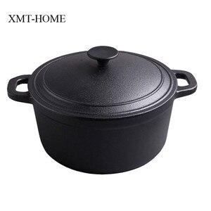 XMT-HOME чугунные кастрюли для жаркого кухонного приготовления индукционные газовые Универсальные котлы суповый горшок не покрывающий Железн...