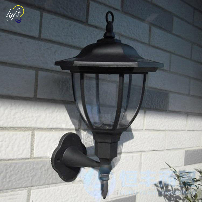Spirited 2pcs/lot 2019 New Outdoor 4 Led Solar Wall Light Lamp 100 % Solar Power Palace Design Solar Garden Light Products Are Sold Without Limitations Lights & Lighting Led Lamps