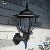2pcs/lot 2019 New Outdoor 4 LED Solar wall light lamp 100 % solar power Palace design solar garden light