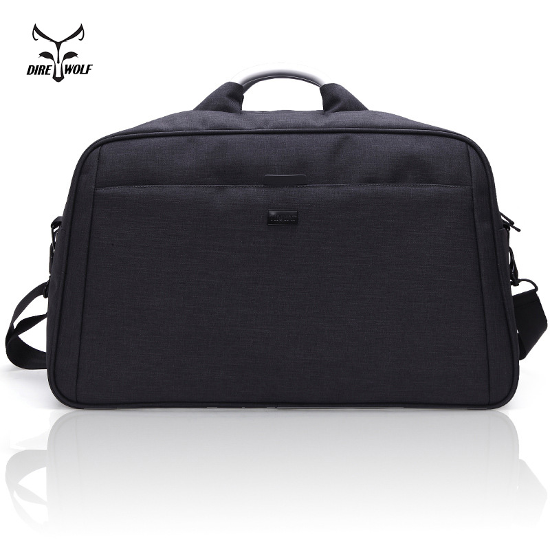 Fashion Men Large Travelling Bag Business Style Duffle Nylon Functional Handle & Shoulder Travel Bag 40L Black Gray