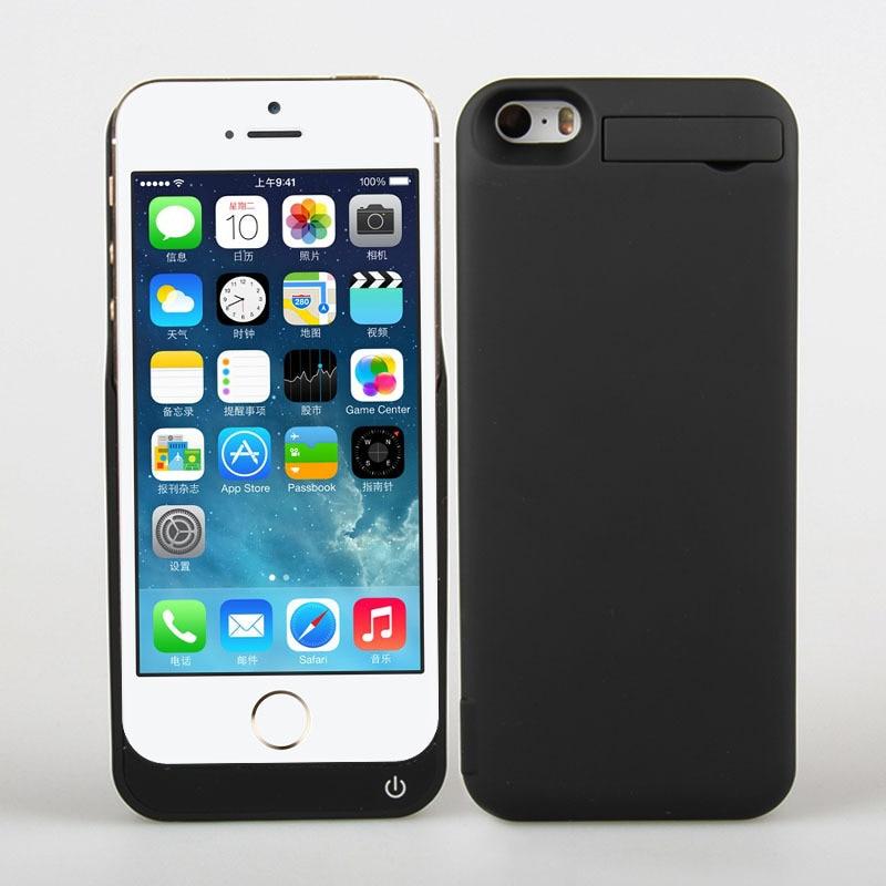 imágenes para Protección de la batería de copia de seguridad de 4200 mah para iphone 5 5s caso cubre shell para iphone5 5S banco de alimentación de emergencia