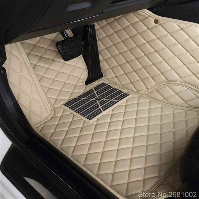 Tapis de pied de plancher de voiture automatique pour jeep grand cherokee 2014 boussole 2018 commander renegade accessoires de voiture imperméables