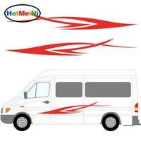 2x Run Dynamic Art Stripes Car Styling Sticker Caravan Bus Travel Trailer Camper Van Vinyl Decals
