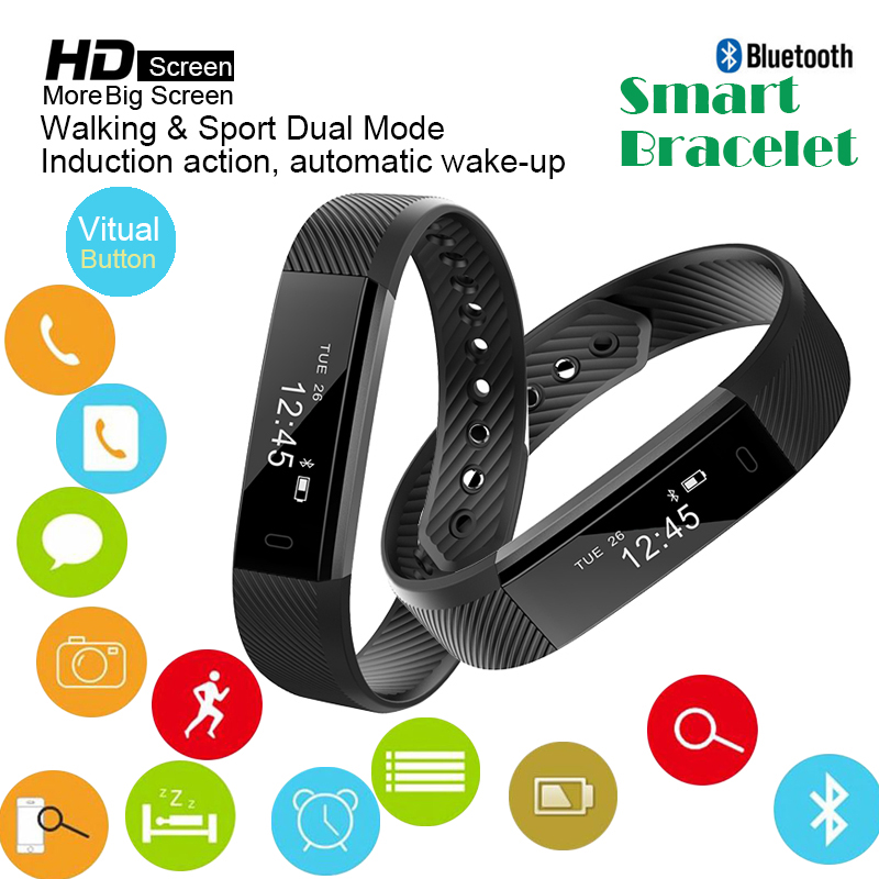 Bluetooth Smart Waterproof Watches Wristband Fitness Tracker Sport Pedometer Smart Bracelet Women Men Smartband for IOS Android mymei bluetooth pedometer tracker smartband remote camera wristband for android ios sc
