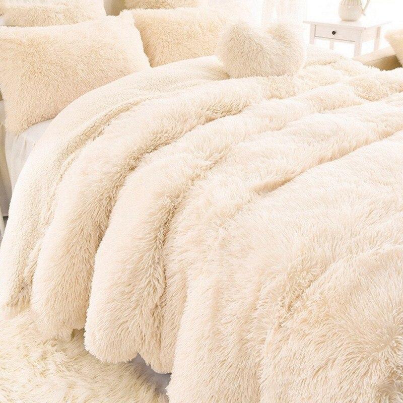 AAG nouveauté luxe Long Shaggy jeter couverture feuille de literie grande taille chaud doux épais moelleux canapé Sherpa couvertures taie d'oreiller
