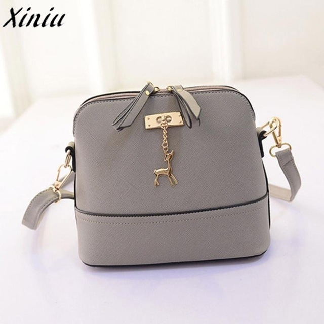 Korean Retro Bag Candy Color Leather Women Small Shell Do Old Messenger Bag  CrossBody Bag Lady 137bf2b8de2f5