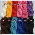 Free Shipping High Tenacity shamballa cord ,High Quality Taiwan Cord fit shamballa jewelry light silk rope string, Hot Sale
