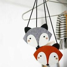 Lovely Baby Shoulder Bag Coin Purse Cute Fox Messenger Bag Accessories Little Grils Handbags Mini Clutch Crossbody Bags