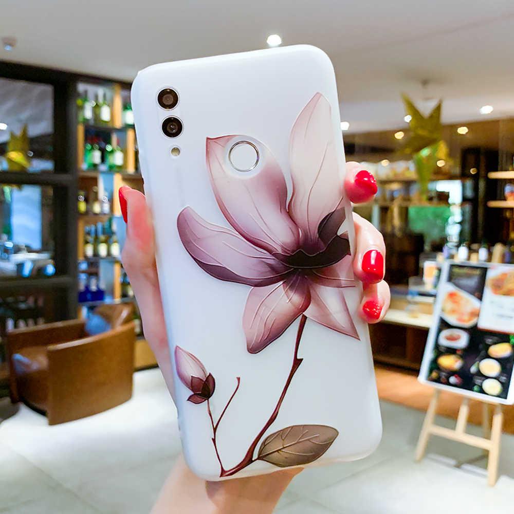 Чехол для huawei P20 P30 P9 P8 P10 Lite 3D рельефный силиконовый чехол для huawei Honor 10 TPU с цветочным узором для телефона Coque/Чехол