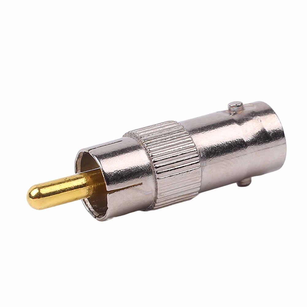 Logam BNC Female TO RCA Male Plug Konektor Adaptor Konverter untuk CCTV TV