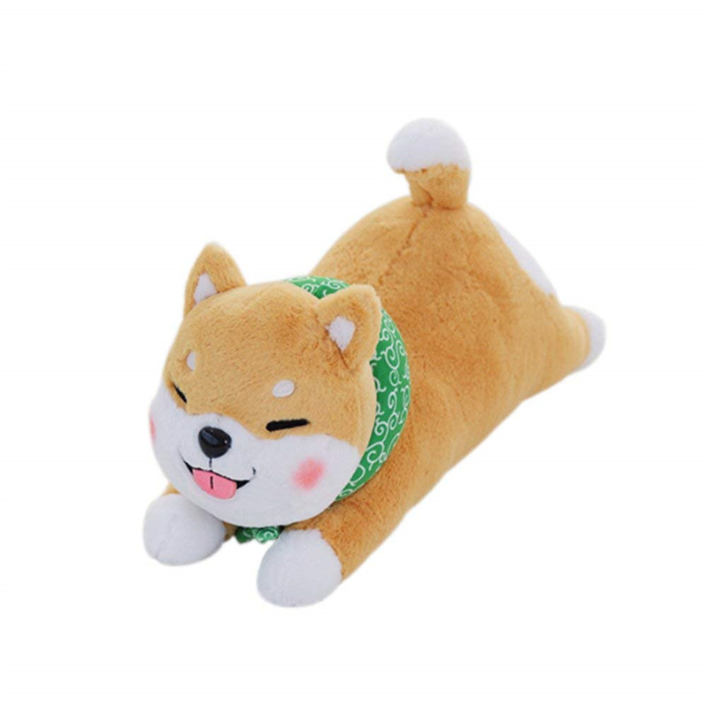 shiba inu seat stay japanese style stuffed soft animal dog cartoon pillow cushion toys bed decorative pet throw durable