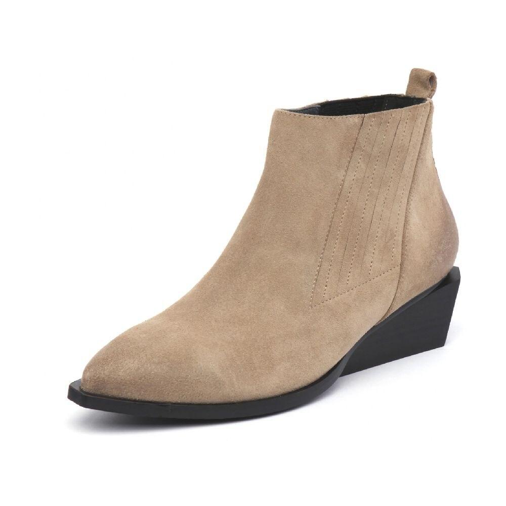 suede 34 Chaussures Chelsea Muyisexi Cheville Toe Talon En 41 Botas Femininas Véritable Mode Black Sexy Bottes suede Cuir Femmes silver Pointu Apricot Black Bootie Hl05 wqcZnqRrUI