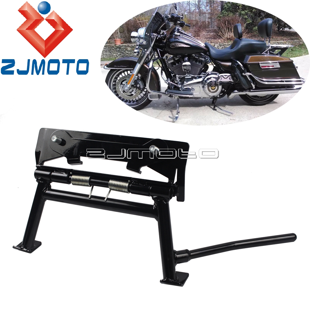 Bagger Manual Center Stand For Harley Road King Ultra Classic Electra Glide Sport Road Glide Easy Up Center Stand 1980 2008