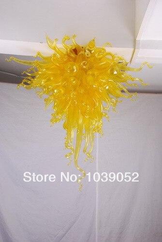 Lustre de Vidro Turco moderno Conduziu A Luz Amarela
