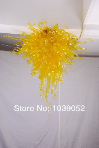 Modern Led Light Yellow Glass Turkish Chandelier