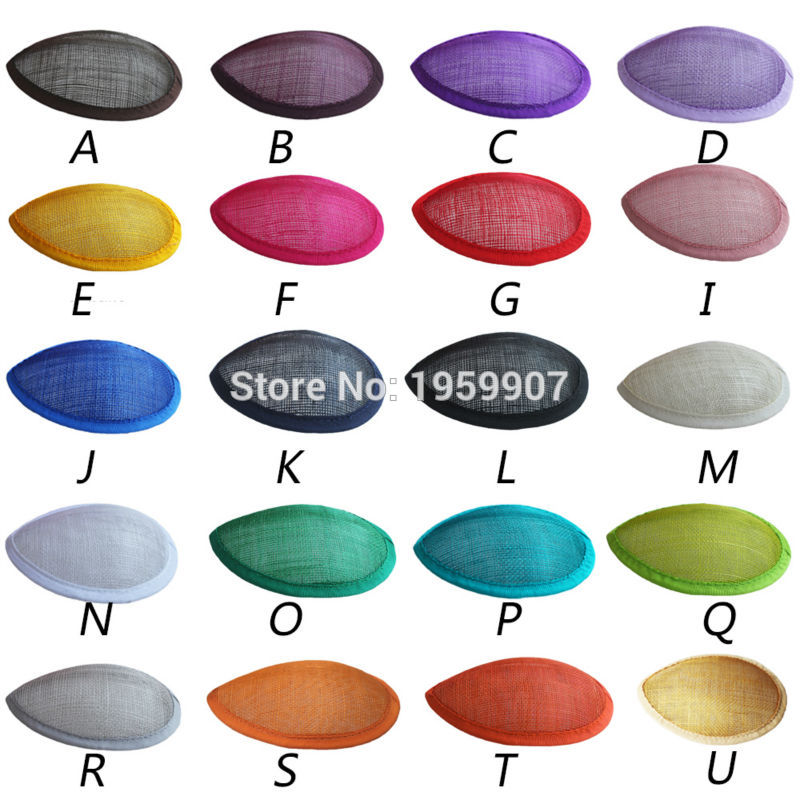 Sinamay Teardrop Base Fascinator Base for Headpiece 20pcs lot 20Color