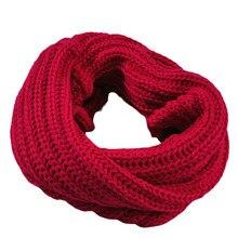 Осень-зима для маленьких мальчиков и девочек; вязаный круг шерстяной шарф, шаль Обёрточная бумага с лисьим мехом Зимние теплые воротник Прямая поставка Прямая