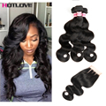 Peruvian Bodywave With Closure 8A Ms Lula Hair With Closure And Bundles 4PCS Body Wave Peerless Virgin Hair With Closure