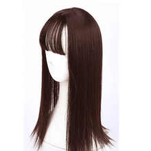 WTB  1014 inch long straight female clip hair extension black brown high temperature synthetic wig