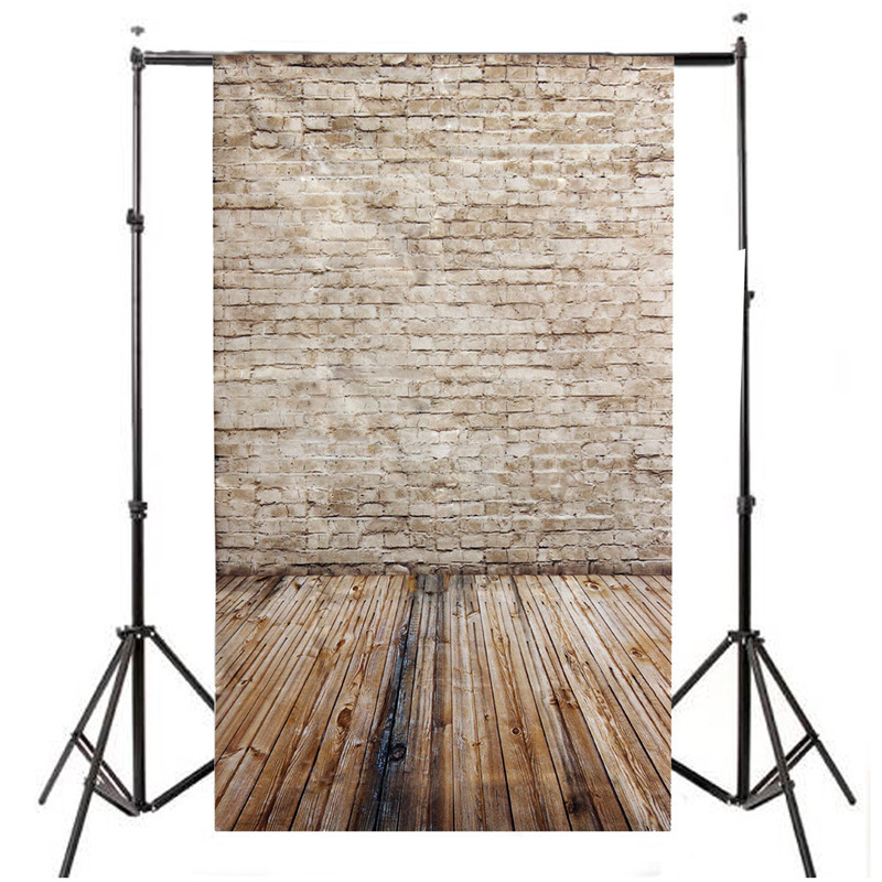 3x5ft Brick Vinyl Photography Background For Studio Photo Props Wooden Floor Photographic Backdrops cloth 90cm x 150cm wooden floor and brick wall photography backdrops computer printing thin vinyl background for photo studio s 1120