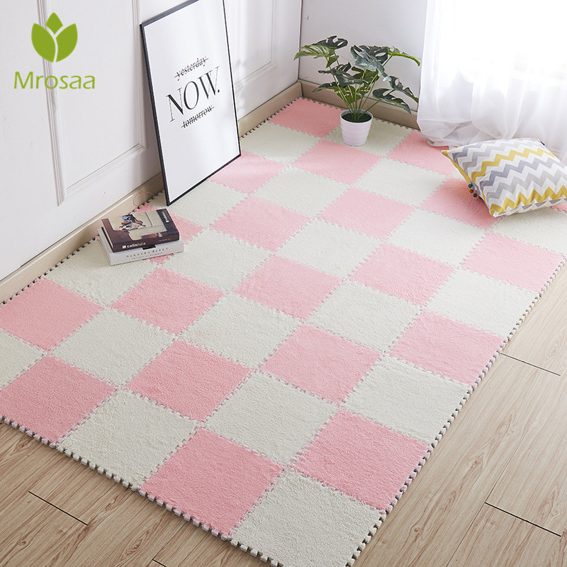Top Sale 1pc  30*30cm Living Room Bedroom Children Kids Soft Carpet Magic Patchwork Jigsaw Splice Heads Climbing Baby Mat