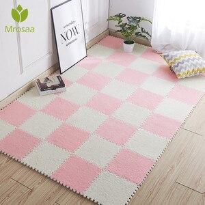 Top Sale 1pc 30*30cm Living Room bedroom Children Kids Soft Carpet Magic Patchwork Jigsaw Splice Heads Climbing Baby Mat(China)