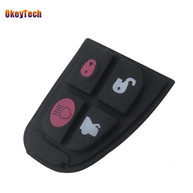 US $1 49 25% OFF|Okeytech for Jaguar Remote Key Fob 4 Button Rubber Key Pad  Switch Repair Replace Kit Accessories for Jaguar X Type XF XJ XK Type-in