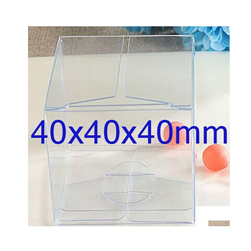 Логотип Коробка Дополнительная Стоимость 40x40x40 мм Ясно ПВХ пакет Коробки пластиковая одноместный кекс Случае Подарок коробки