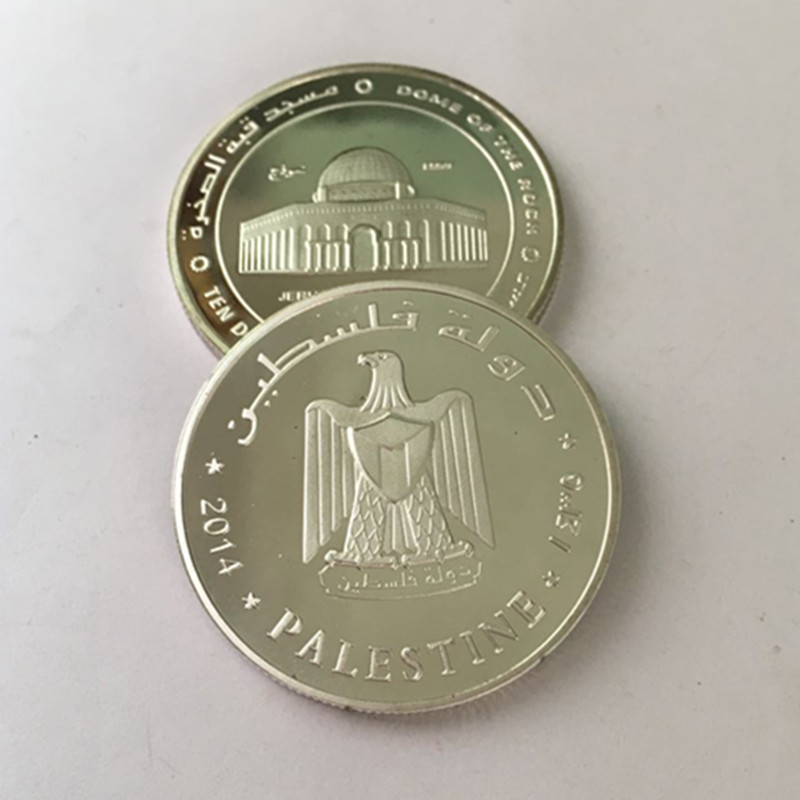 2 pcs the dome of the rock badge 2014 mosque jerusalem dinars badge 2 pcs the dome of the rock badge 2014 mosque jerusalem dinars badge silver plated palestine souvenir decoration coin in non currency coins from home m4hsunfo