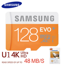 SAMSUNG Original Tarjeta de Almacenamiento de 128 GB 64 GB 32 GB 16 GB 48 M/s C10 EVO Class10 de MicroSD TF Tarjeta de Memoria SDHC SDXC UHS-1 Envío gratis