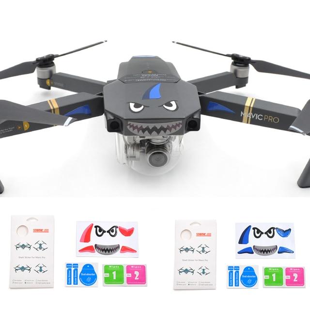 STARTRC DJI Mavic Pro Combo RC Drone FPV Protective Sticker Skin Cover shark Spare Parts Free Shipping