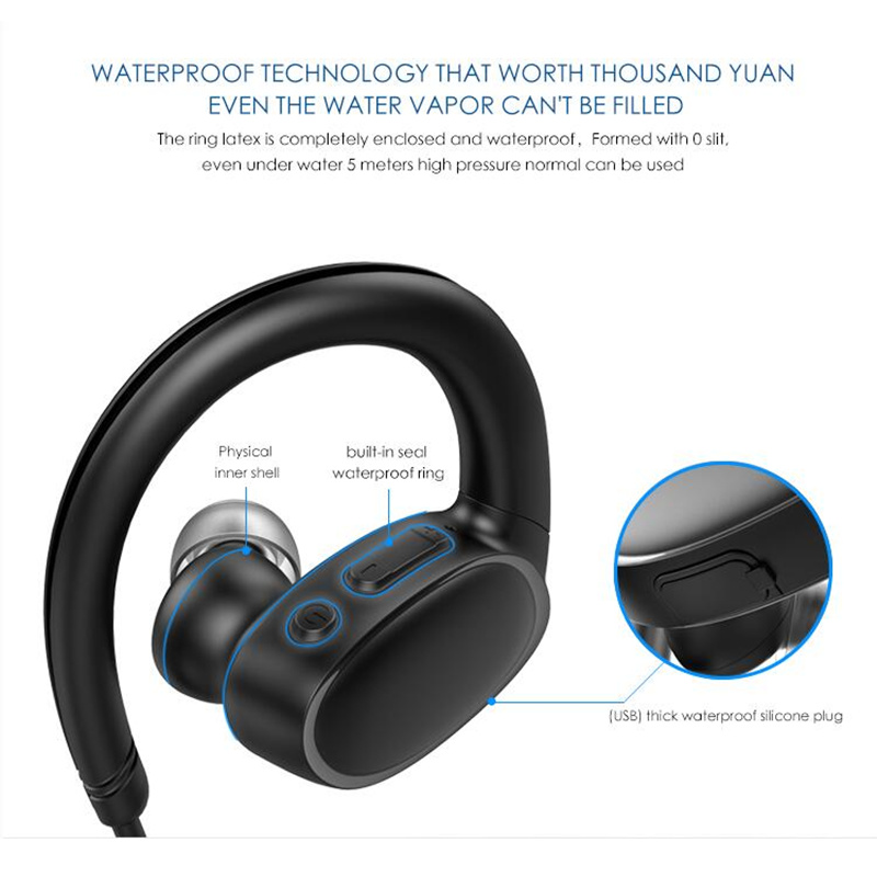 e9b2c112adab7e Beste Koop Nieuwste OVEVO X9 Mp3 speler Bluetooth 4.2 Oortelefoon 8G IPX7  Waterdichte Professionele Sport Zwemmen TWS Oortelefoon Handenvrij Goedkoop.