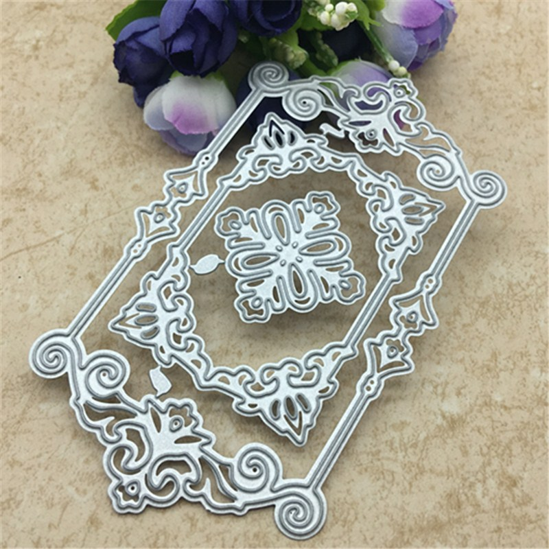 Square Lace Metal Cutting Dies Stencils For DIY Scrapbooking/photo Album Decorative Embossing DIY Paper Cards