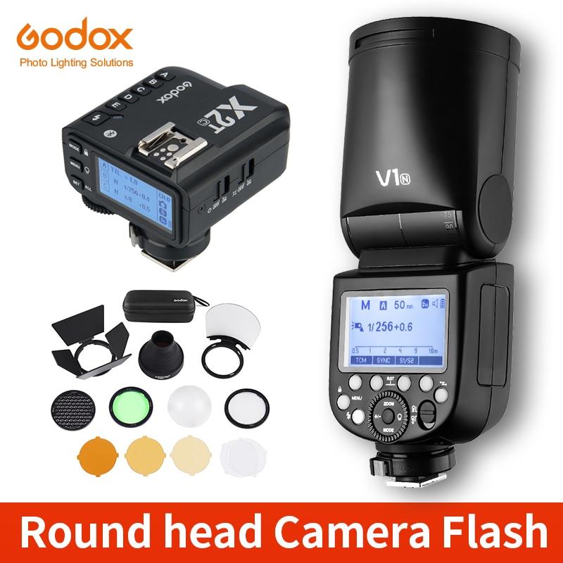 Вспышка Godox V1 V1C V1N V1S V1F V1O TTL 1/8000s HSS Speedlite, вспышка с триггером для Canon, Nikon, Sony, Fuji, Olympus, с функцией триггера для N/S/F/O
