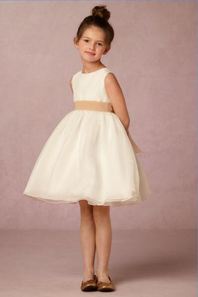 2017 Free Shiping Flower Girls Dresses For Wedding Gowns Ivory Kids Prom Dresses Chiffon Mother Daughter Dresses For Girl Party