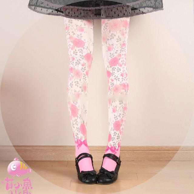 Princesa doce Meia-calça lolita Japonês Princesa Coréia Do Sul Subiu De Veludo impressão bk08