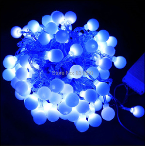 Image 1 - Free shipping220V Christmas LED string lights10m 100leds Garland LED bulbs string lights Waterproof string light Wedding lights