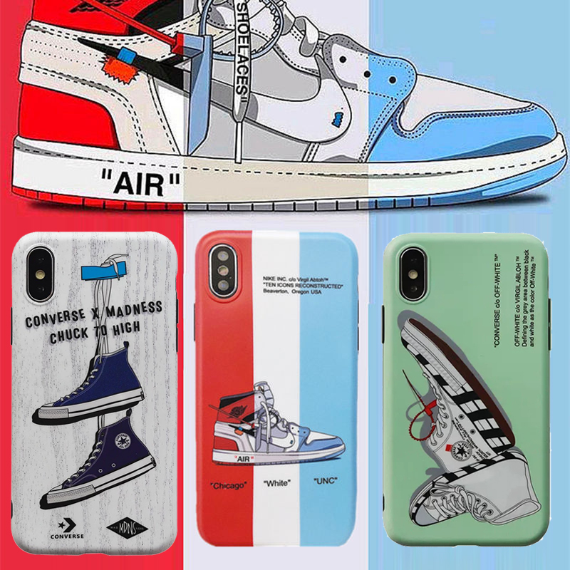 5d14e0c268fff4 Hot Air Jordan AJ1 Ow off Suprem Soft silicone cover case for iphone ...