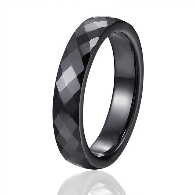 New 4mm Light Pink Black White Beautiful Hand Cut Ceramic Ring For Woman Top Quality Jewelry Without Scratches Woman Ring 2