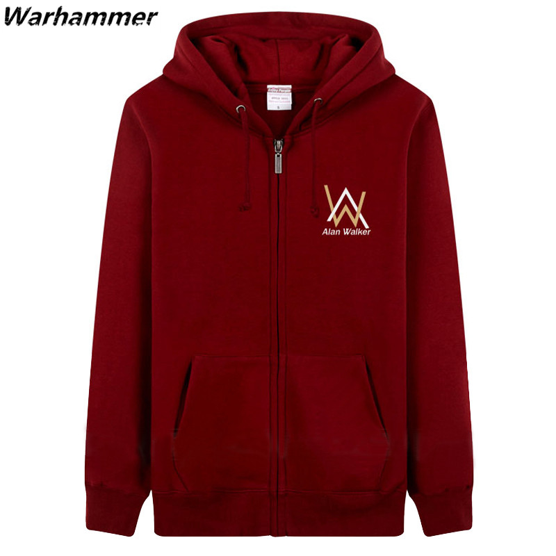 Alan Walker DJ Faded Hoodies Mens Electronic Brand Zipper Hooded HipHop Casual Sudaderas Con Capucha Hombre 3XL Print Sweatshirt